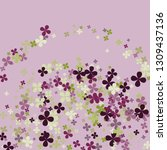 pastel violet background with... | Shutterstock .eps vector #1309437136