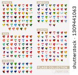 heart icon set with the flags...   Shutterstock .eps vector #1309441063