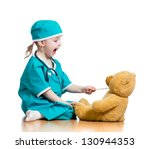 adorable child dressed as... | Shutterstock . vector #130944353
