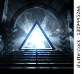 3d Rendering Of Strange Temple...