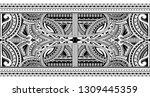 polynesian style sleeve tattoo... | Shutterstock .eps vector #1309445359