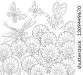 zentangle coloring page.... | Shutterstock .eps vector #1309449670