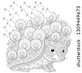 zentangle coloring page.... | Shutterstock .eps vector #1309449673