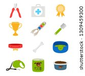dogs accessorises  food  toys ... | Shutterstock .eps vector #1309459300