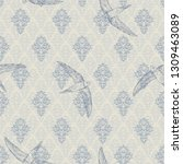 vintage luxery royal seamless... | Shutterstock .eps vector #1309463089