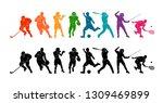 color sport background.... | Shutterstock .eps vector #1309469899