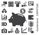 finance and money icon set... | Shutterstock .eps vector #130947260