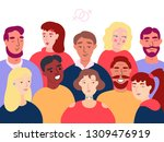 group of different stylish... | Shutterstock .eps vector #1309476919