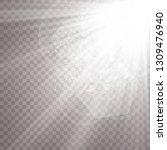 sunlight on a transparent... | Shutterstock .eps vector #1309476940