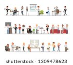 set of business people working... | Shutterstock .eps vector #1309478623