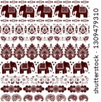 indian rug tribal ornament... | Shutterstock .eps vector #1309479310