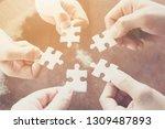 hand of diverse people... | Shutterstock . vector #1309487893