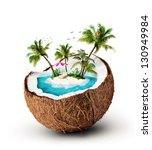 Tropical Island In Coconut....