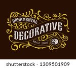 victorian vintage badges... | Shutterstock .eps vector #1309501909