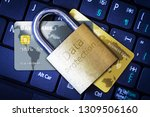 golden padlock on top of... | Shutterstock . vector #1309506160