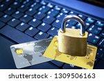 golden padlock on top of... | Shutterstock . vector #1309506163