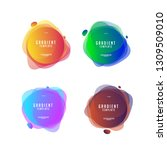 abstract shape gradient color...   Shutterstock .eps vector #1309509010