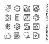 testimonials icons set. pixel... | Shutterstock .eps vector #1309510729