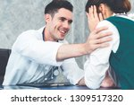young doctor examining female...   Shutterstock . vector #1309517320