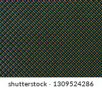 red green blue dots of oled led ... | Shutterstock . vector #1309524286