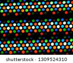 red green blue dots of oled led ... | Shutterstock . vector #1309524310