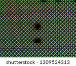 red green blue dots of oled led ... | Shutterstock . vector #1309524313