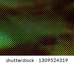 red green blue dots of oled led ... | Shutterstock . vector #1309524319