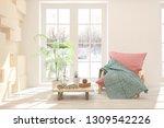 white stylish minimalist room... | Shutterstock . vector #1309542226
