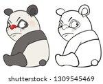 vector illustration of a cute... | Shutterstock .eps vector #1309545469