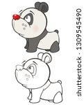 vector illustration of a cute... | Shutterstock .eps vector #1309545490