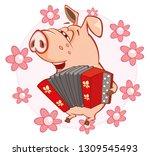 vector illustration of a cute... | Shutterstock .eps vector #1309545493