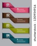 modern options banner. vector... | Shutterstock .eps vector #130954916