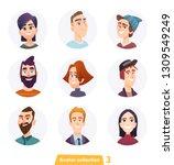 cheerful people avatar... | Shutterstock .eps vector #1309549249