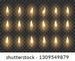 candle flame. burning orange... | Shutterstock .eps vector #1309549879