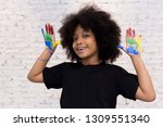 african american playful and... | Shutterstock . vector #1309551340