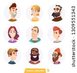 cheerful people avatar...   Shutterstock .eps vector #1309551343