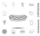 hot dog icon. simple thin line  ...