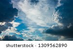 large cloud on dramatic moody...   Shutterstock . vector #1309562890