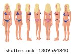 vector illustration of blonde... | Shutterstock .eps vector #1309564840