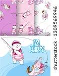 cute bear  childish style.... | Shutterstock .eps vector #1309569946