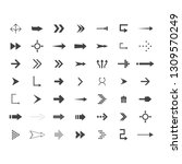arrows vector collection with... | Shutterstock .eps vector #1309570249