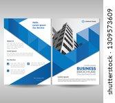 business brochure cover... | Shutterstock .eps vector #1309573609