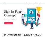concept sign in page on mobile...