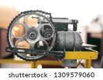 old reduction gear mechanism... | Shutterstock . vector #1309579060