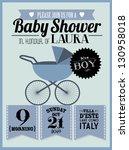 baby shower invitation template ... | Shutterstock .eps vector #130958018