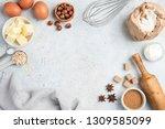 Baking Ingredients And Utensil...