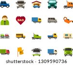 color flat icon set   father's... | Shutterstock .eps vector #1309590736