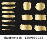 set of golden paints  metalic...   Shutterstock .eps vector #1309593283