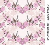 flower seamless pattern | Shutterstock .eps vector #130959650