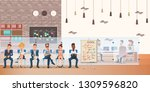 queue of candidate on chair... | Shutterstock .eps vector #1309596820